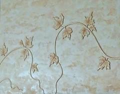 """Kominek - Travertino Venezia, Veldecor, Stone Tone Stain połysk. Relief roślinny. Wykonawca - Adam Ochał. • <a style=""""font-size:0.8em;"""" href=""""http://www.flickr.com/photos/48080832@N02/7395003654/"""" target=""""_blank"""">View on Flickr</a>"""