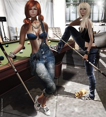 pool game with Annan (Neva Crystall~) Tags: truth miel redgrave ohstudio monso baiastice lelutka glamaffair ncreation maxigossamer marcmirror