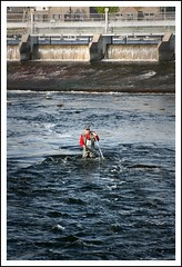 Fly Fishing on the Corrib II (EoinGardiner) Tags: city ireland galway river fly fishing corrib weir