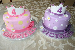 Twin Princesses (irresistibledesserts) Tags: birthday girl shower princess twin baptism christening communion