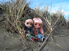 IMG_4138...Zuzu and Lissie on the dunes