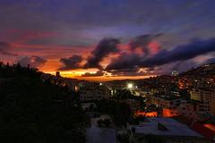 Stunning Sunset over the city of #Nablus earlier (TeamPalestina) Tags: sunset sky sun sunrise landscape landscapes photo am amazing nice photographer natural sweet live palestine nablus comfort sunrays beautifull palestinian  landscapecaptures