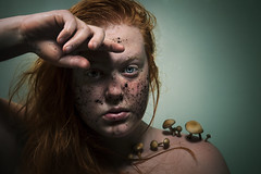 Reconnecting (Katelin Kinney) Tags: red summer portrait plant nature mushroom work garden hair landscape ginger dirty redhead soil dirt sweat land humble