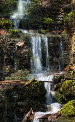 mini waterfall (kimbenson45) Tags: peakdistrict brown flowing green levels longexposure motion movement nature stream water waterfall waterfalls white