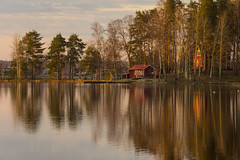 just before everything turned green (kipuna) Tags: sunset suomi finland island cabin jyvskyl mkki auringonlasku saari lehtisaari