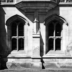 Gothic Windows (hipgnosis vision) Tags: windows monochrome architecture square gothic squareformat inkwell iphoneography instagramapp