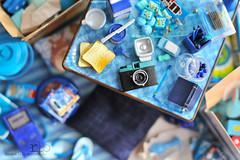 Re-ment Addicts Colour Challenge - Blue (Random Life Project) Tags: blue toys miniatures miniature lomography mimo rement dianaf japanesetoy colorchallenge yujin megahouse colourchallenge rementaddicts miniaturemarbles