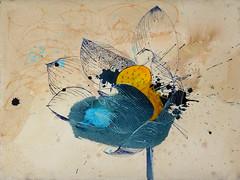 DSC09507 (scott_waterman) Tags: blue ink watercolor painting paper lotus gouache bluehue lotusflower scottwaterman