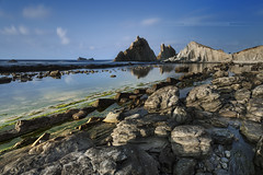 Arna Beach - Liencres - Cantabria - Spain (www.antoniogaudenciophoto.com) Tags: sunset cloud beach stone sunrise spain sand espagne plage cantabria liencres arnia cantabrie playadelaarnia playadelaarna antoniogaudencio