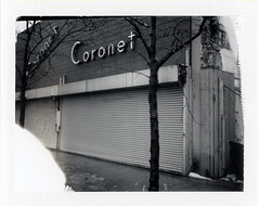 Gary, IN (moominsean) Tags: abandoned sign polaroid midwest downtown fuji indiana instant gary coronet 190 midcentury fp3000b