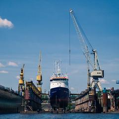 Hamburg Hafen (kugluz) Tags: travel light urban water architecture germany deutschland lights harbor wasser europa europe cityscape hamburg journey experience architektur hafen elbe hanse hansestadt urbanlife traveltheworld