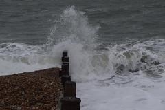 Hayling Winter (Olivia Darby) Tags: sea haylingisland wave foam solent groyne breaking froth