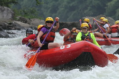Mastering the whitewater on the Youghiogheny.  I think this was right before I got dumped out!