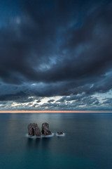 Los Urros (Herv D.) Tags: losurros liencres cantabria cantabrie espagne atlantic atlantique mer sea ocan ocean paysage landscape seascape santander sunset heurebleue bluehour coucherdesoleil findujour