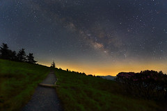 Round Bald Milky Way rising (i_am_durin) Tags: sky night tennessee northcarolina trail rhododendron nightsky roan northcarolinamountains roanhighlands durinsday canon6d milyway canon1635mmliif28