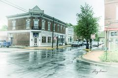 Merchant Street (LarryHB) Tags: street travel urban horizontal vintage landscape photography store dusk edited missouri hdr stegenevieve 2016