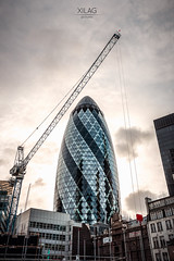 The Gherkin (XILAG Pictures) Tags: london photoshop canon thecity londres dri cityoflondon lightroom 1635 dynamicrangeincrease digitalblending 70d canonef1635mmf4lisusm luminositymasks ef1635mmf4lisusm