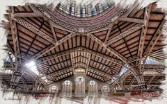 Mercado Central de Valencia (Leles14) Tags: textura valencia marco dibujo cristaleras mercadocentral bordes