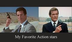 Action stars, Silvester Stallone and Roger Moore (baldemorwalter) Tags: rogermoore silvesterstallone actionstars cinema movies jamesbond tangoandcash british american suave