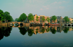 Amsterdam, The Netherlands (Neal J.Wilson) Tags: travel holland netherlands amsterdam reflections still nikon europe cities canals amstel d3200