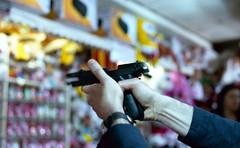 Bang bang, he shot me down (Minchioletta) Tags: hands gun mani lunapark pentaxmesuper pistola c41 agfavista200 50mmlens smcpentaxa50mm smcpentaxa50mmf17 analogicait lomographyandvintagecameras