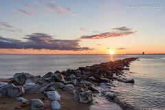 Sandy Point Sunrise 2 (strjustin) Tags: lighthouse beach beautiful sunrise canon landscape maryland 1855mm annapolis pasadena sandypoint 60d canon60d