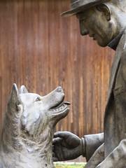 Hachiko II (Douguerreotype) Tags: city friends dog art statue japan tokyo memorial