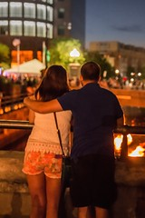 A couple enjoys the view (waterfireprov) Tags: couple visitors