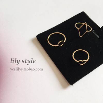 Honey kalili ornaments: closed rings round &