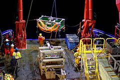Mothra instrument platform is recovered after a night dive at Endeavour Ridge (Ocean Networks Canada) Tags: vessel endeavour scienceparty vesselcrew oceannetworkscanada instrumentplatform rvsikuliaq wiringtheabyss2016 abyss16