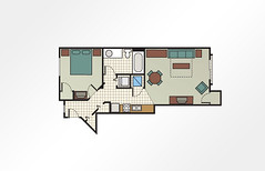 MountainLoft™ 1-Bedroom - 500 sq ft
