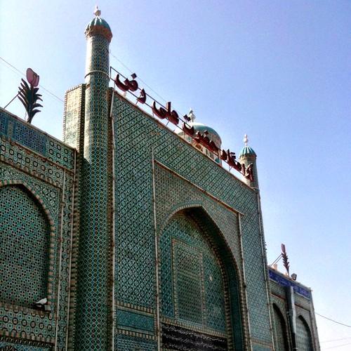 The Shrine of Hazrat Ali, or The Blue Mosque, Mazar-e-sherif