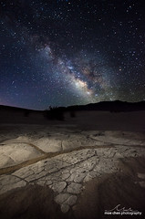 Mesquite Night (moe chen) Tags: california park night way stars death sand mud space dunes dry national mesquite valley milky formations