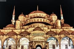 Sultan Ahmed Camii / Blue Mosque (Yahya Metin) Tags: blue turkey nightshot türkiye istanbul mosque türkei dome sultan ottoman bluemosque cami hdr sultanahmet camii turchia ahmet kubbe osmanlı 600d alem ottomanstyle