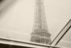 Eiffel Tower, Paris B&W (Marco Boekestijn) Tags: life street city trip travel light brown holiday paris france streets tower tourism seine landscape boat spring nikon women iron europe day view 5 postcard eiffeltower rusty landmark visit montmartre tourist tourists days traveller toureiffel april marco guide greetings frankrijk garedunord beatiful parijs attraction 2012 metropole ladefence theeiffeltower quartierlatin travelphotography cityoflight cityoflove d80 theironlady welcometoparis boekestijn parisgeotagged