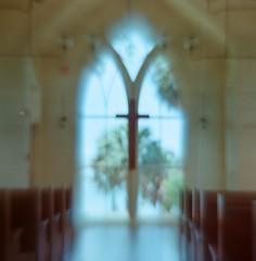 Palmetto Bluff church (VLBPhotography) Tags: trees portrait usa church analog mediumformat southcarolina arax filmphotography kodakportra palmettobluff vega12b squarephotography volna3lens