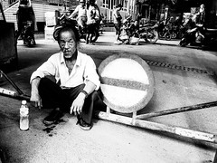 No Entry (imsuri) Tags: china people blackandwhite 3 man digital chinese chinadigitaltimes gr ricoh nanning 2012 guangxi  lostlaowai grdiii