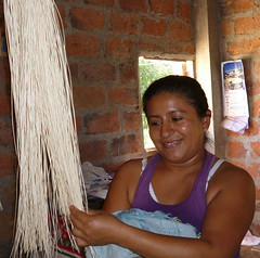 "Zoila Lopez, ""I like to weave straw panama hats. It is the nicest thing to see it finished, it gives joy"""
