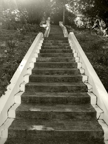 Steps to staff house