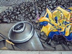 Shadow (& Deem) in the Bronx (LoisInWonderland) Tags: newyorkcity shadow streetart bronx