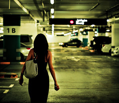 Follow Me Down (Hans Maso) Tags: street girls people woman girl canon 50mm women dubai candid garage uae ef50mmf18ii canoneos50d