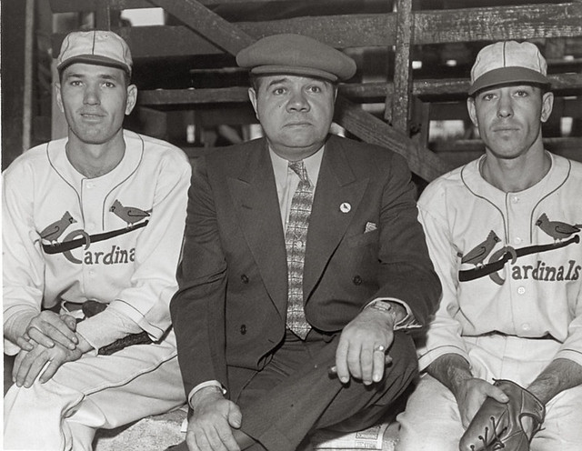 Dizzy Dean, Babe Ruth, and Paul Dean, ca. 1936.