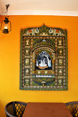 The Orange Wall (eternal_ag0ny) Tags: orange india art lamp wall architecture painting table chair nikon goa nikkor 18200mm d300s