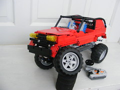 Red Trial Jeep (Razvy_cluj_ro) Tags: lego jeep suspension trial pf remotecontrolled powerfunctions trialtruck nico71 trialjeep