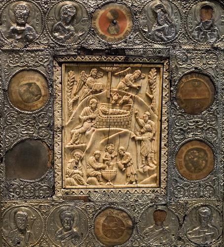 Icône reliquaire de la Nativité (Constantinople, Venise (?), Allemagne, XIe au XVe s.), Musée du Louvre (Paris, France)