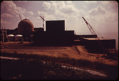 The Donald Cook Nuclear Power Plant is Still Under Construction. Lake Michigan at Bridgman, 08/1973. (The U.S. National Archives) Tags: lakemichigan pollution kalamazoo 1973 environmentalprotectionagency nuclearpowerplant naturalresources documerica usnationalarchives donaldsequeira