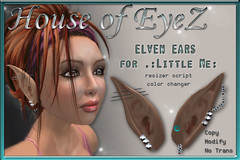 Elven Ears .:Little Me:. (.: House of EyeZ :.) Tags: me mesh little avatar ears tiny elven ndmd