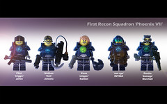 "First Recon Squadron ""Phoenix VII"" (felt_tip_felon) Tags: lego space spacemarines minifigs unit squadtroops"