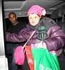 Jermain Defoe and 'Celebrity Hugger' Tania McIntosh Celebrities leave the 'Britain's Got Talent' studios after the live show London, England
