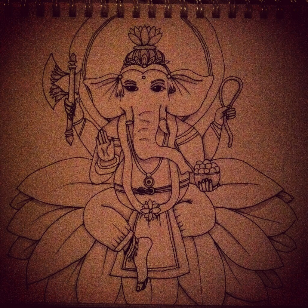 Tattoo Designs Vignesh: The World's Best Photos Of Drawing And Ganesh